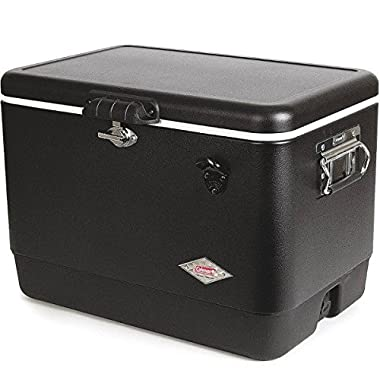 Coleman 54-Quart Steel Belted Cooler - Dark Black