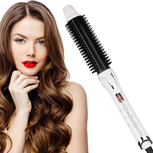 Hair Curling Iron Brush and Volumizer Ceramic Tourmaline Ionic 1 Inch Barrel Hair Curling Wand Adjustable Temperature Hot Hair Curlers Straightening Brush