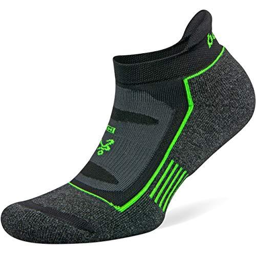Balega Blister Resist No Show Socks for Men and Women (1 Pair), Charcoal/Black, Small