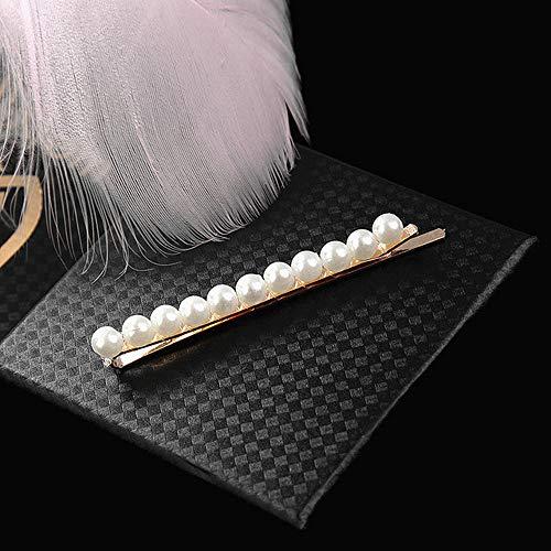 GUANGUA Perle Imitation Perle Pince à Cheveux Femmes Pince à Cheveux à la Main Perle Fleur bâton Pince à Cheveux Accessoires de Coiffure