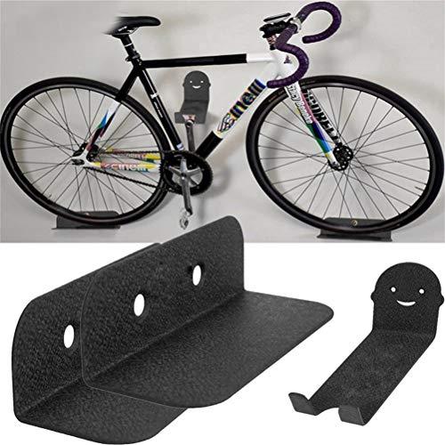 Bsopem Fahrradparkständer aus massivem Stahl, Wandhalterung für Fahrrad, Fahrradaufbewahrung mit Sicherheitshaken, für Mountainbike, Rennrad, Klapprad