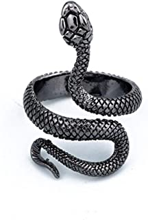 FUTIMELY Snake Ring for Women Men Vintage Gothic Snake Wrap Ring Punk Style Animal Snake Statement Ring Adjustable Spirit ...