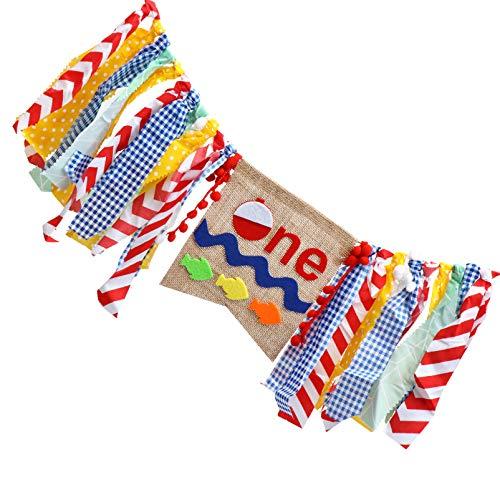 STOBOK Primer Cumpleaños para Banderines de Silla Alta 1 Er Cumpleaños Silla Alta Banderines Guirnalda Decoración Suministros para Fiestas de Cumpleaños Favores de La Fiesta Accesorios