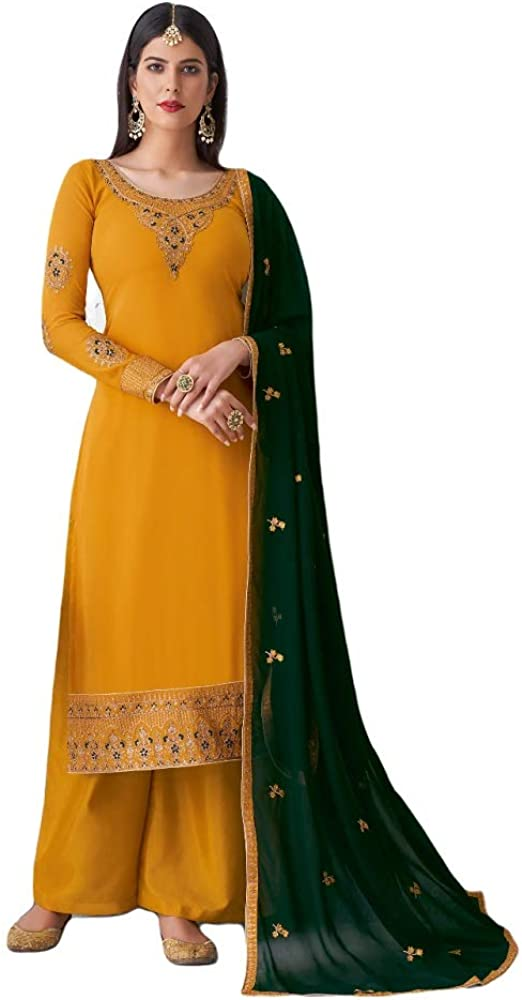 Prija Collection Ready to Wear Indian Party/Wedding Wear Designer Palazzo Salwar Suit for Womens