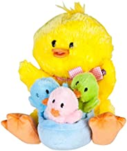 Musical Plush Animated Mom with Baby Chicks Sings
