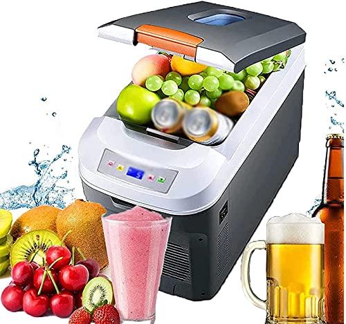 BIIII - Frigorifero auto da 35 l, mini frigo a doppio uso, portatile, per alimenti, bevande, congelatore, per auto, casa, all aperto