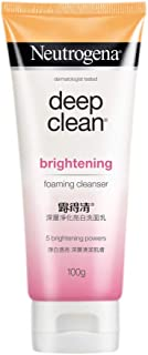 Neutrogena Deep Clean Brightening Foaming Cleanser, White, 100 g