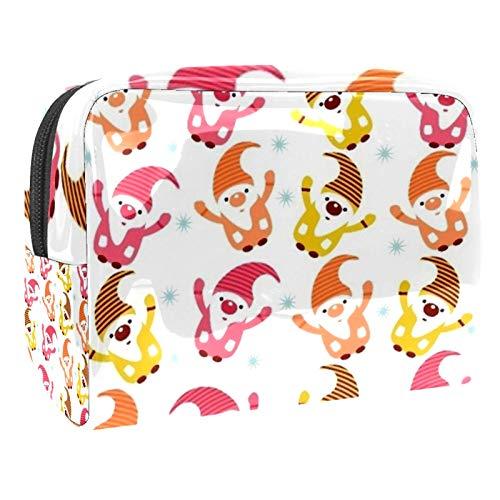 Bolsa de maquillaje portátil con cremallera, bolsa de aseo de viaje para mujeres, práctica bolsa de almacenamiento cosmético brillante Sprite