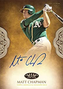 2019 Topps Tier One #PPA-MCH Matt Chapman Certified Autograph Baseball Card - Only 299 made!