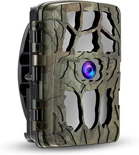 2021 Nuevas cámaras Wildlife Trail 20MP 4K con visión nocturna 82ft / 25m 940nm LED IR sin brillo, cámara para juegos de caza con pantalla de 2,4 '' activada por sensor de movimiento, velocidad de di