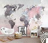 Gran Papel Tapiz Del Mapa Del Mundo Mural Para La Habitación Del Niño Del Bebé Sofá Fondo De La Pared Mural De La Foto 3D Etiqueta De La Pared 3D Papel De La Pared Del Mapa 3D-200 * 140Cm