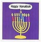 Happy Hanukkah Menorah - cartoon for Chanukkah - Jewish - Greeting Card, 6 x 6 inches, single (gc_112818_5)