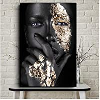 """Carteles e impresiones African Art Woman Painting on Canvas Cuadros Wall Art Picture for Living Room Non-woven-70x100 cm / 27.6""""x 39.4"""" Sin marco"""