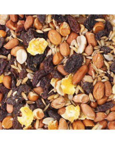 Honeyfields Wild Bird Fruit Feast, 12.6kg bag, Contains Peanuts, Raisins, Sultanas, Peeled Oats, Sunflower Hearts, Flasked Maize, Papaya & Banana Chips, Ideally Used on Bird Tables & Ground Feeders