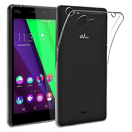 ebestStar - kompatibel mit Wiko Pulp Fab 4G Hülle Handyhülle [Ultra Dünn], Premium Durchsichtige Klar TPU Schutzhülle, Soft Flex Silikon, Transparent [Phone: 155.4 x 79.3 x 8.5mm, 5.5'']