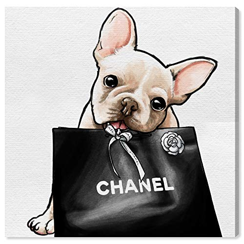 Oliver Gal 'Frenchie Glam' The Dogs and Puppies Wall Art Decor Collection Contemporary Premium Canvas Art Print