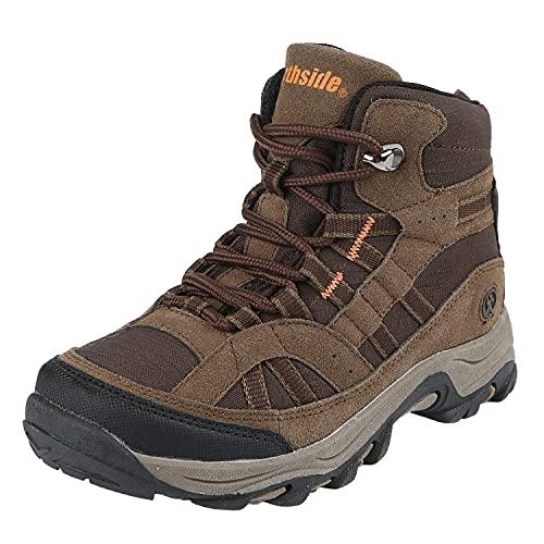Northside Unisex-Kid's Rampart MID Hiking Boot, Medium Brown, 4 Medium US Big Kid