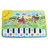 Fdit Tapis Bébé Musique Enfants Ramper Piano Tapis Multifonctionnel Bébé Musique...