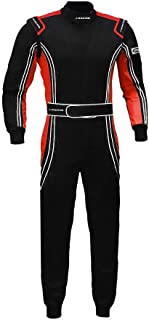 jxhracing RB-CR014 One Piece Auto Go Karts Racing Suit-SFI rated (Small, Orange)