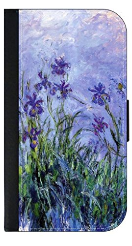Claude Monet's Lilac Irises - Wallet Style Phone Case Compatible with The Apple iPhone