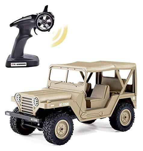 YYQIANG RC Military Of-Road Coche 1/14 4WD RC Off-Road RC Vehículo camión escalada 2.4G 4x4 Radio Control remoto de alta velocidad Crawler Rock para adultos y niños Regalo RC Coche Aficiones infantile