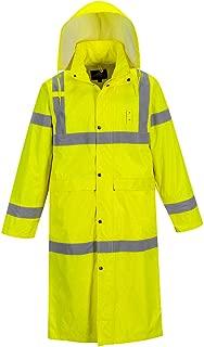 Hi-Vis Classic Raincoat 48 Viz Safety Visability Work Rain Jacket ANSI 3