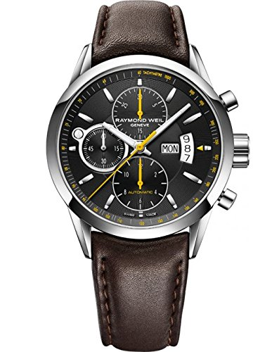 Raymond Weil Herren Chronograph Automatik Uhr mit Leder Armband 7730-STC-20021