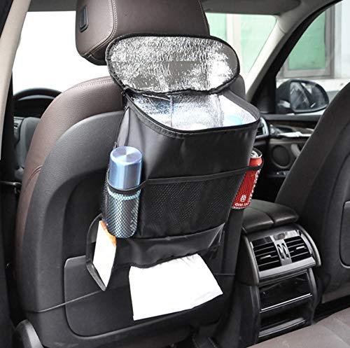 Bayli Kühltasche für Autositz   Rücksitztasche Thermotasche für die Lange Reise   Auto Rückenlehnentasche mit Kühlfach und Getränkehalter   Iso Tasche   KFZ Rücksitz-Organizer