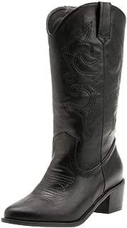 Zanpa Women Fashion Western Boots Ankle High