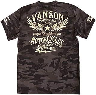 (バンソン) VANSON ドライ 半袖Tシャツ ウィング 吸汗速乾 抗菌防臭 UVカット ACV-901