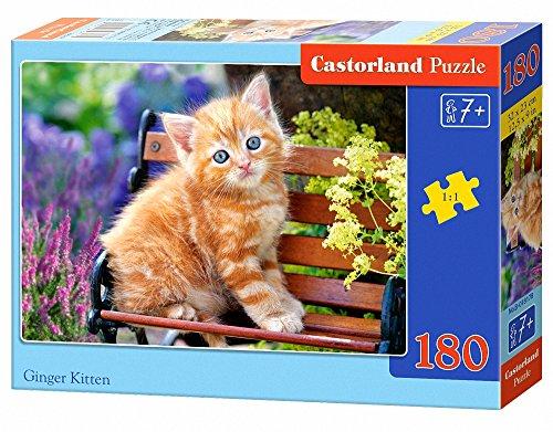 Castorland Ginger Kitten 180 pcs Puzzle - Rompecabezas (Puzzle Rompecabezas, Fauna, Niños, Gato, Niño/niña, 7 año(s))
