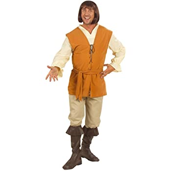 WIDMANN Desconocido Disfraz medieval de campesino para hombre ...