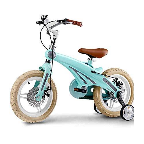 XBSLJ Kinder Fahrrad, Klappräder Kinderfahrrad Kinderfahrrad, 12-14-16 Zoll mit Trainingsrad 4 Farben erhältlich Geschenk für Jungen und Mädchen für Neugeborene (Farbe: GRÜN, Größe: 12 Zoll)