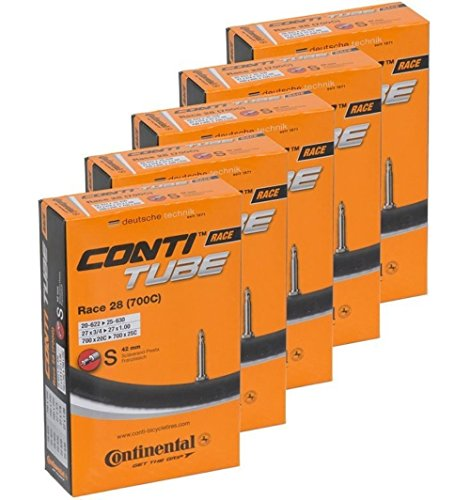 Continental Bicycle Tubes Race 28 700x2025 S42 Presta Valve 42mm Bike Tube  Value Bundle 5in1 Bicycle Tube 700c