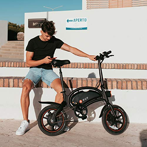 LENTIA DYU Electric Bike for Adults Foldable 14 inch E-bike 50km Mileage Lithium-Ion Batter 3 Riding Modes 250W Max Speed 25km/h