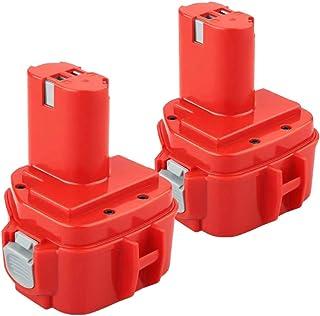 Powayup 2 * 1220 12V 3.0Ah Ni-MH Batería de reemplazo para Makita 1222 1233 PA12 1200 1234 1235 1235B 1235F 1235A 192696-2...