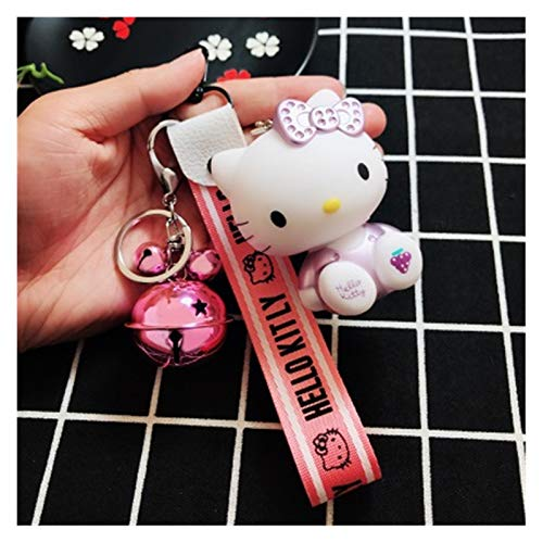 Djujiabh Keychain Cute Hello Kitty Key Ring Keychain Women Anime Key Holder...
