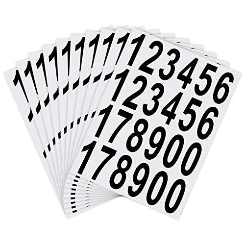 LUTER 10 Hojas para Buzón Números Pegatinas, Impermeables