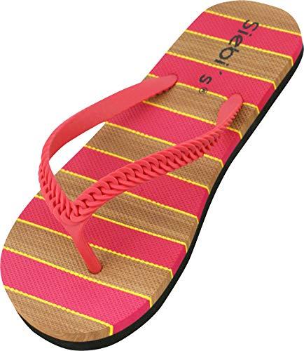 Siebi's Maui Flip Multi Flacher Zehentrenner Damen extra Leicht: Größe: 38/39 EU | Farbe: Pink