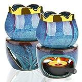SETSCZY Quemadores de Cera para derretir quemadores de Aceite Esencial, quemadores de Cera de cerámica para derretir quemadores de Aceite Esencial para aromaterapia, difusor perfumado