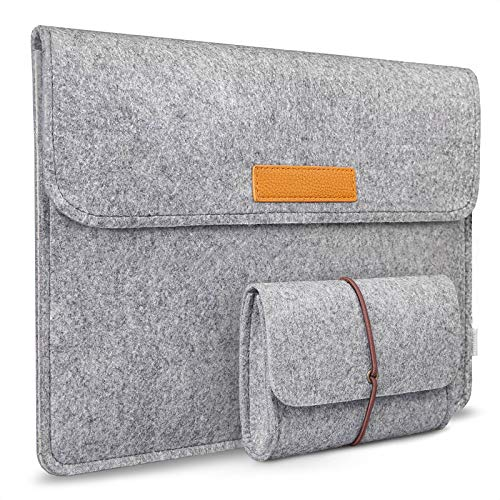 Inateck 13-13.3 Inch Case Cover Sleeve Compatible with MacBook Air/Pro Retina/ 12.9 Inch iPad Pro, Ultrabook Netbook Carrying Case Protector Bag, Light Gray
