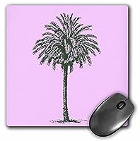 3droseピンクヴィンテージPalmツリー–夏–旅行–トロピカルビーチアート–マウスパッド、8× 8インチ(MP 57214_ 1)