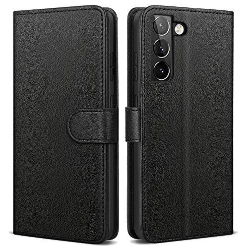 Vakoo Serie Wallet Cover Compatibile con Samsung Galaxy S21 Plus, con RFID Blocking (Nero)