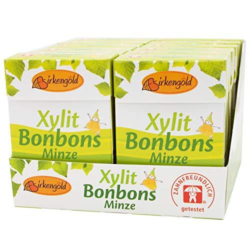 Birkengold Xylit Bonbons Minze zuckerfrei, 12er Pack | zahnpflegend | zuckerfrei | mit 100 {aa0008eca7e006517c277f9424ca8707d8d09821b5d176918a1edfbe7afceb41} europäischem Xylit | natürliche Zutaten, 1305