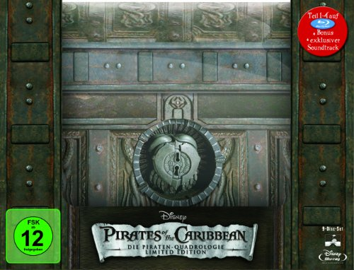 Pirates of the Caribbean - Die Piraten-Quadrologie (Limitierte Collector\'s Edition Schatztruhe inkl. Soundtrack) [Blu-ray]