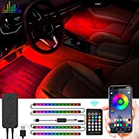 Weisji Car LED Strip Light with USB Charge Port