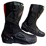 Black Hawk High Tech - Botas de Moto/Motocicleta para Hombre, de Piel de Carrera CE (UK 12 - EU 46)