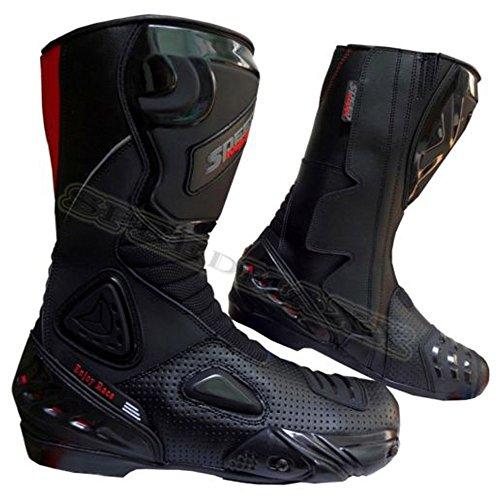 Black Hawk High Tech - Botas de Moto/Motocicleta para Hombre, de Piel de Carrera CE (UK 12 - EU 46)