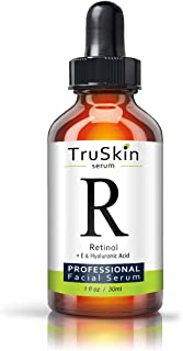 TruSkin RETINOL Serum for Wrinkles, Fine Lines, contains Vitamin A, E and Hyaluronic Acid, Organic Green Tea, Jojoba Oil, ...