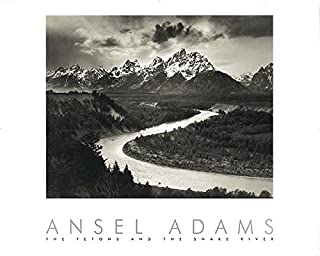 Snake River and the Tetons by Ansel Adams 30x24 Black & White Landscape Print Poster